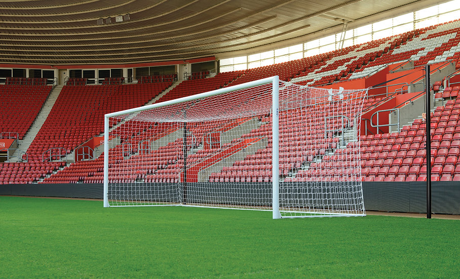 The unique Stadium Pro Goal from Harrod Sport is a premium football goalpost with a patent-pending height adjustment system.