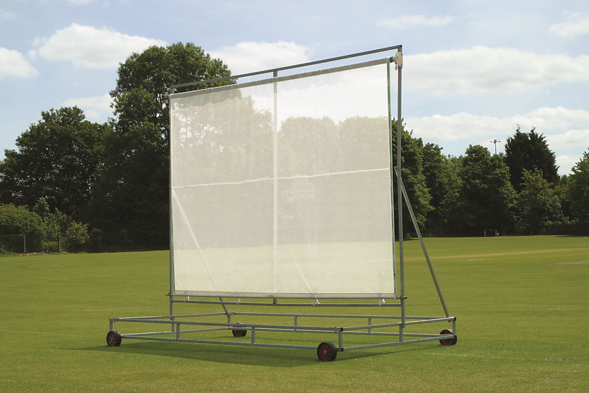 The 'Retrax' retractable roller sight screen from Tildenet consists of a galvanised steel frame with 30% porous PVC screen