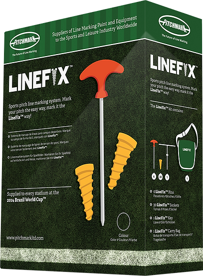 LineFix is a unique linemarking socket system from Pitchmark to aid with remarking sports pitches and cricket squares.