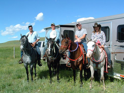 Family on Trail Ride