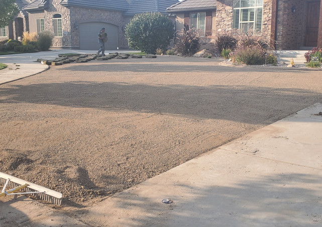 Front Yard Grading and Sod Install