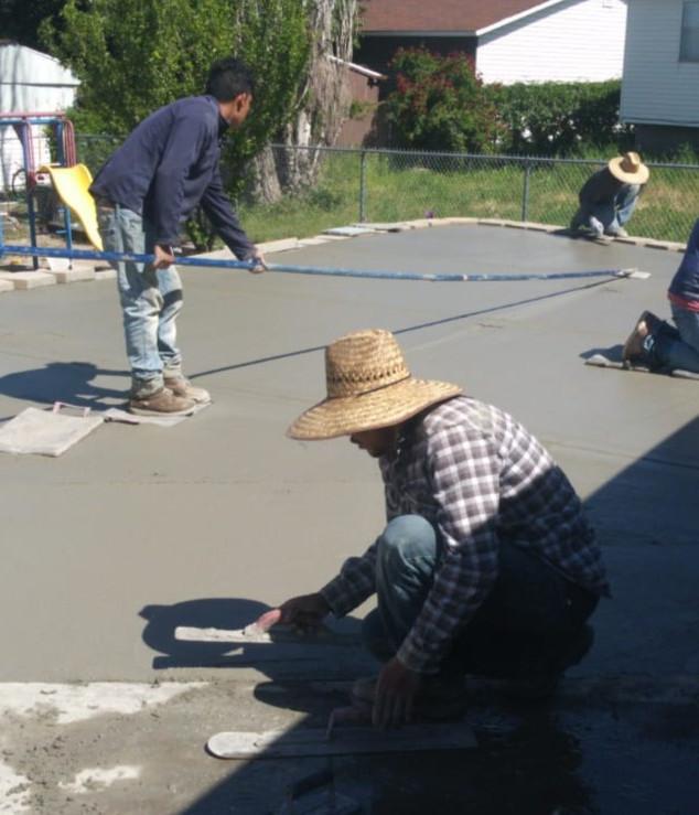 RV. concrete Pad