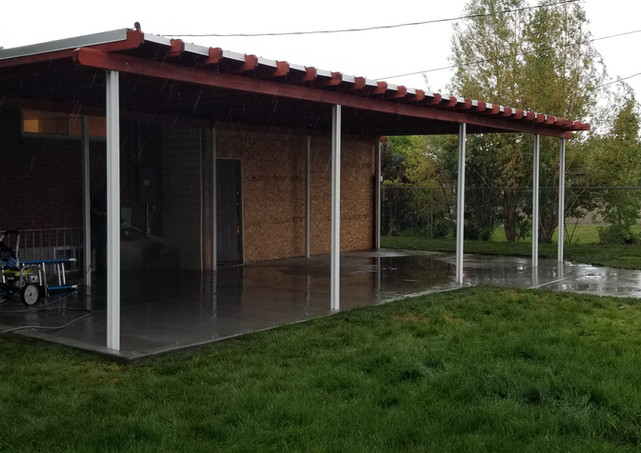 Cement Pad and Patio Cover