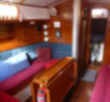 Victoria 34 sailing yacht interior saloon
