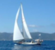 Victoria 34 sailing yacht sailing in Greece