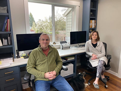 Eric & Michelle in their home office