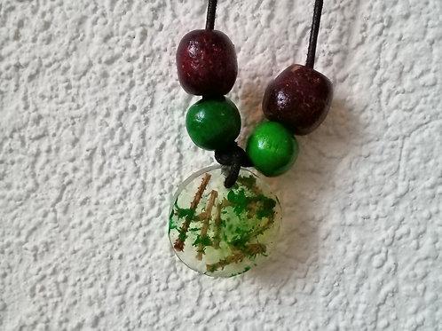 Greed Cedar Needle Necklace