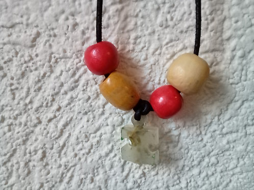 Red Puzzle Necklace