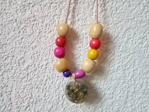 Multi Color Flowers Necklace