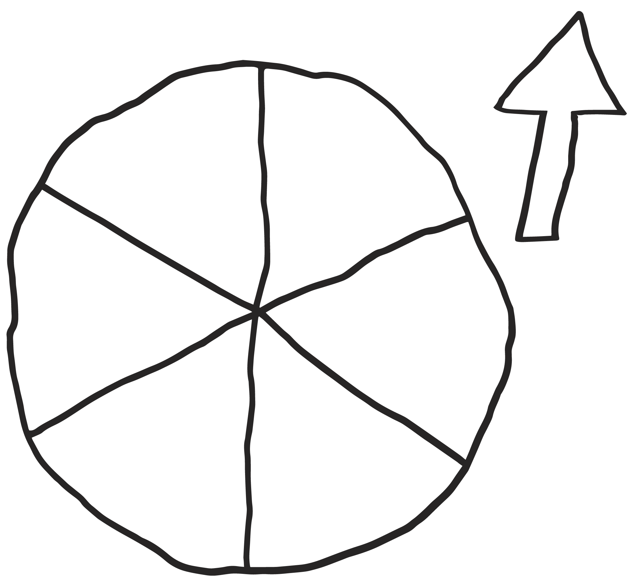 Wheel Template with Arrow