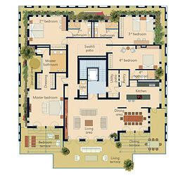 Penthouse plan Swahili Gem