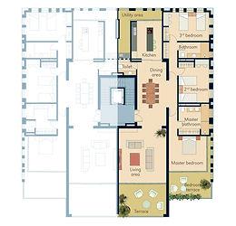 Terrace apartment plan Swahili Gem