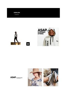 Página representativa de estabelecimento do segmento de moda. Com imagens autorais do proprietário Osklen.