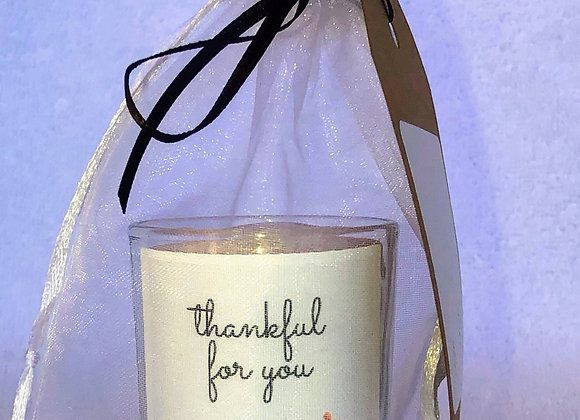 """Thankful for You"" Candle"
