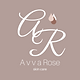 b39e99 A v v a Rose skin care Logo with