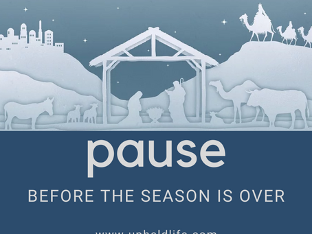 Pause Before the Season is Over