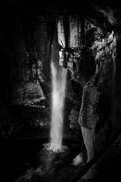 Water Fall Lovers Leap Rock City BW