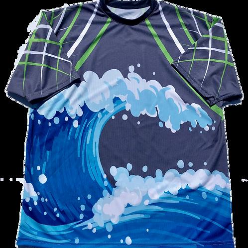 Blue wave short sleeve shirt