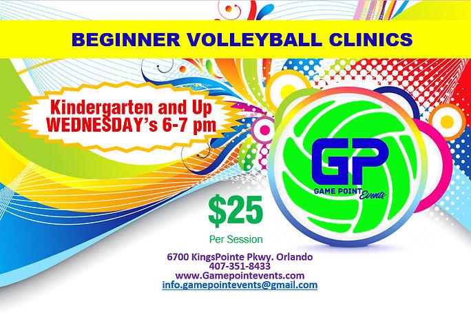 Beginner volleyball Clinics
