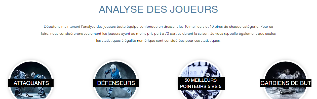 analyse joueurs