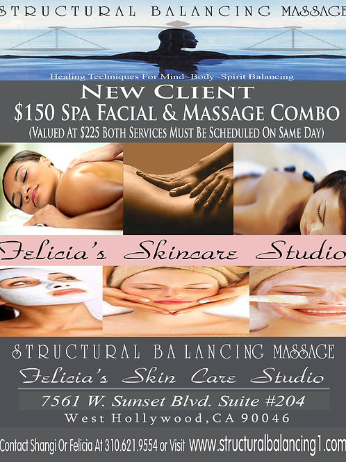New Client Introductory Massage & Facial Combo
