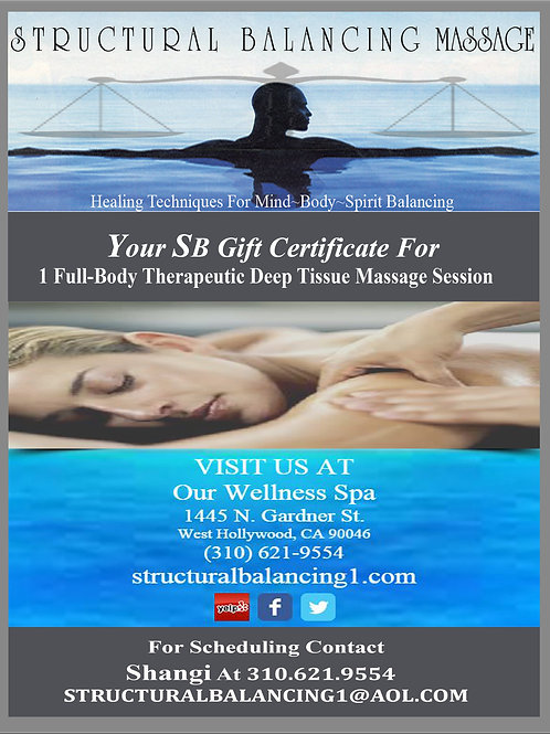 90 Minute Massage B-Spa Gift Certificate