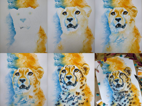 How I Paint Wildlife Using Watercolours
