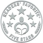 Reader's Favourite 5 star rated award for this children's book. Emblem with 5 stars.