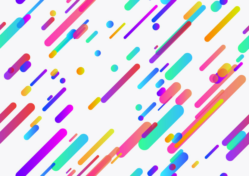 rainbow coloured lines and dots background image