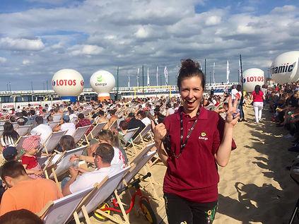 Energa Strefa kibica na plaży Gdańsk