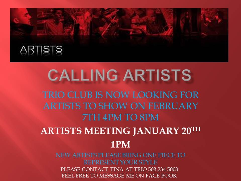 Calling Artists