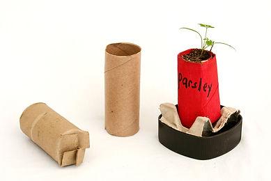 Toilet roll tube planter