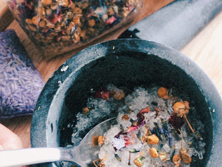 Make your own bath salts to soothe your body and mind
