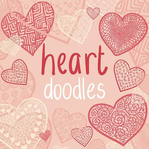 Vector Heart Doodles