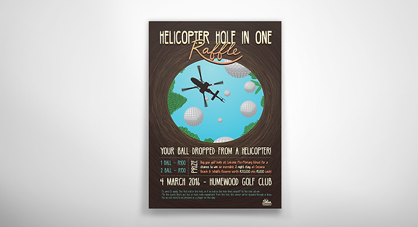 Illustrated Raffle Poster Mock up