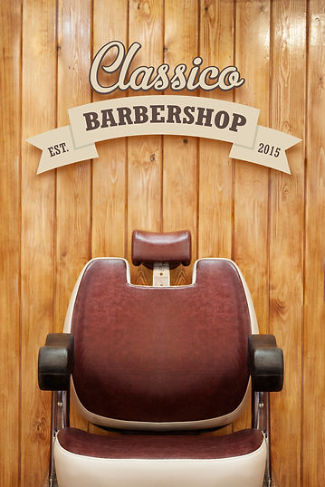 A decor focus image of the barber chair at Classico Barbershop, North Clapham, London.