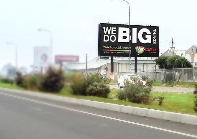Billboard Design Tractor Outdoor