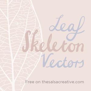 Freebie: Leaf Skeleton Vectors