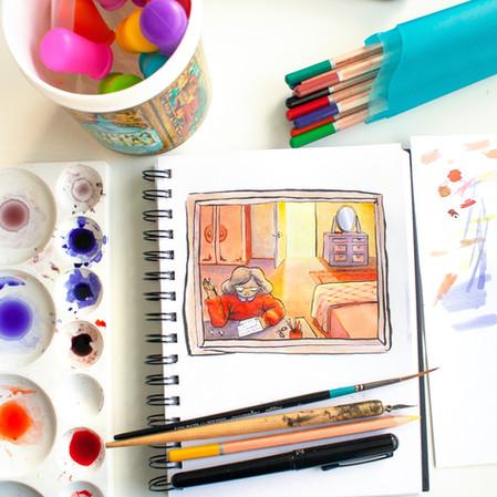 Colour Ink Sketchbook Illustration