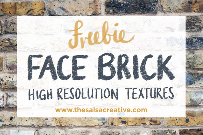 FREEBIE: High Resolution Face Brick Textures
