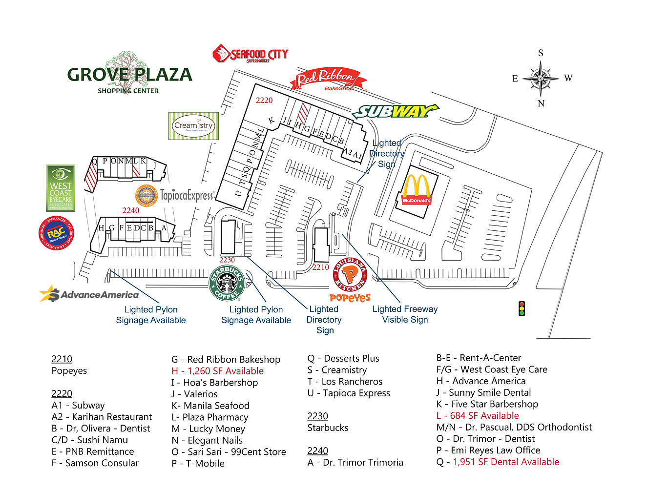 Grove Site Plan With Directory WITH LOGO