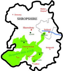ShropshireHillsAONBMap