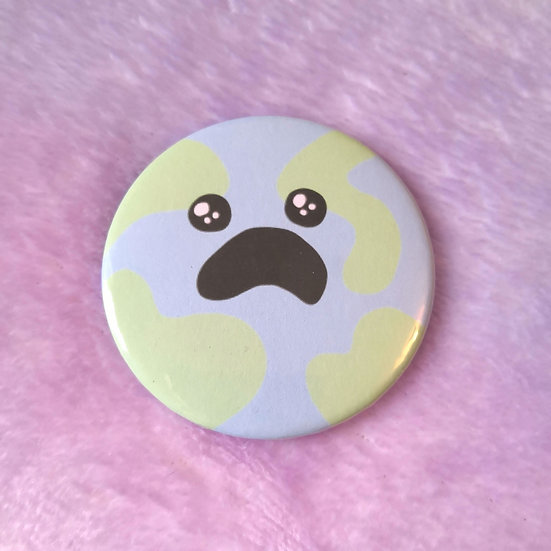 Distressed Earth - 58mm Badge