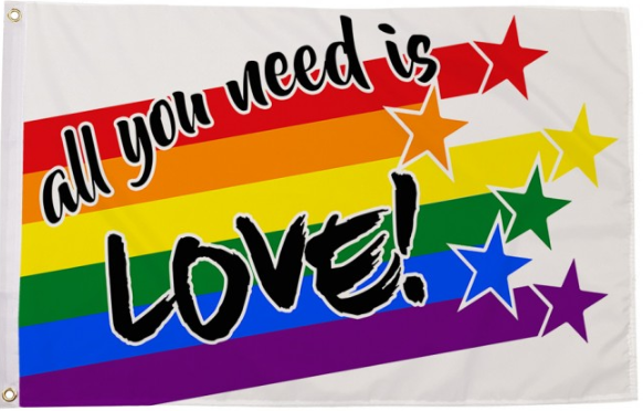 All You Need Is Love Pride Flag