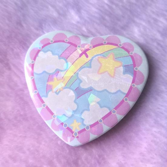 Magical Sky - Holo Heart Badge