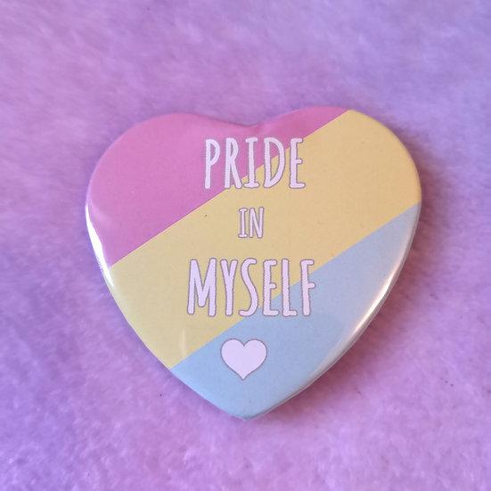 Pansexual - Pride In Myself - Heart Badge