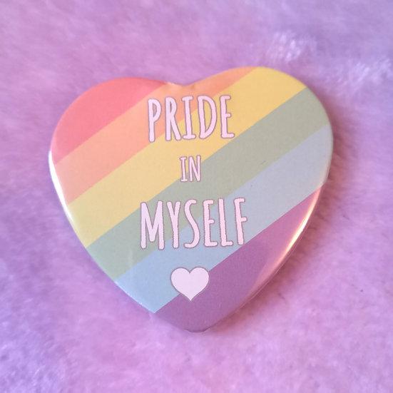 Rainbow - Pride In Myself - Heart Badge