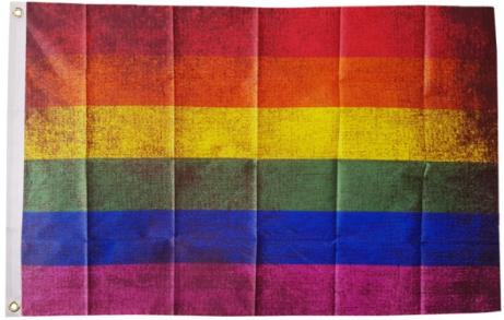 Grunge Rainbow Pride Flag