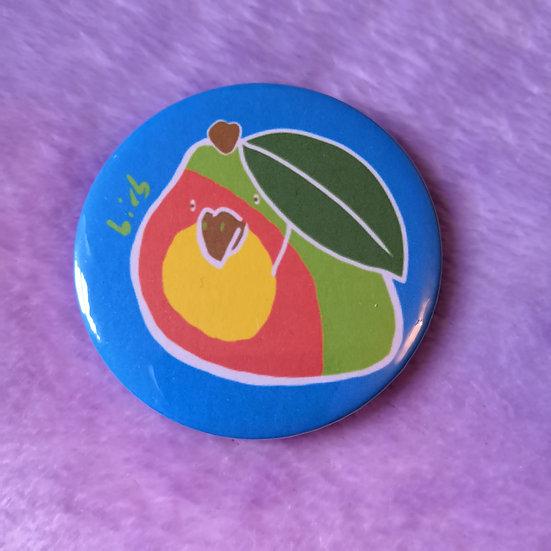 Mango Birb - 58mm Badge