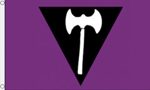 Lesbian Labrys Pride Flag